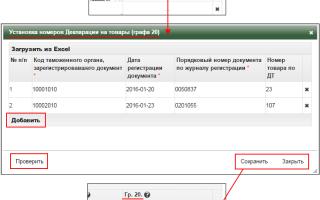 Коды документов в таможенной декларации
