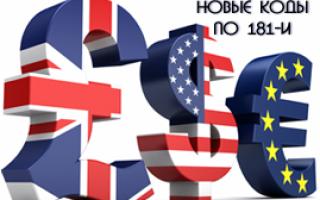 Код валютной операции 21100