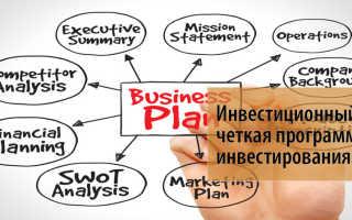 Что такое инвестиционный план