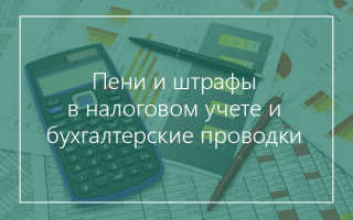 Пени по страховым взносам налоговый учет
