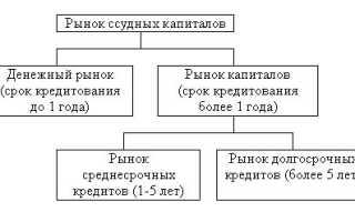 Структура рынка ссудных капиталов