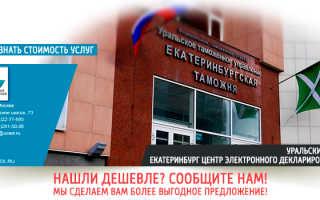 Екатеринбургская электронная таможня