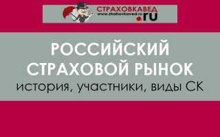 История страхового рынка россии