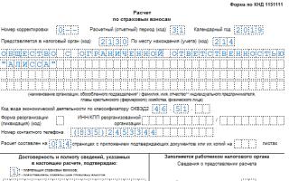 Заполнение расчета страховых взносов за полугодие