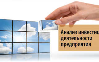 Направления анализа инвестиционной деятельности